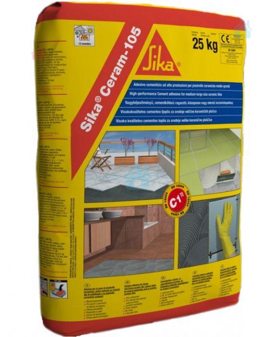 Купить Клей эластичный для плитки на цементной основе класса C1 TE Sika Ceram-105