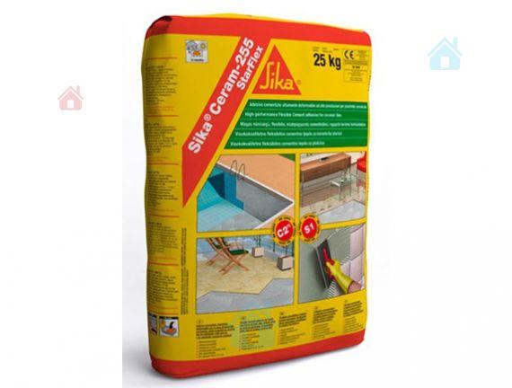 Купить Клей эластичный для плитки на цементной основе класса C2 TE S1 Sika Ceram-255 StarFlex