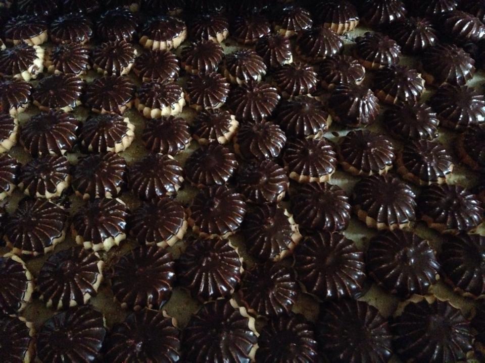 Купить Печенье с шоколадной глазурью