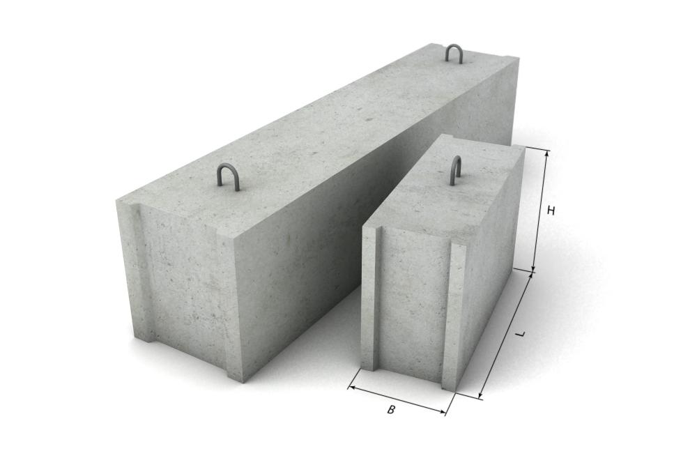 Купить Блок фундаментный L 1200xl400xh800