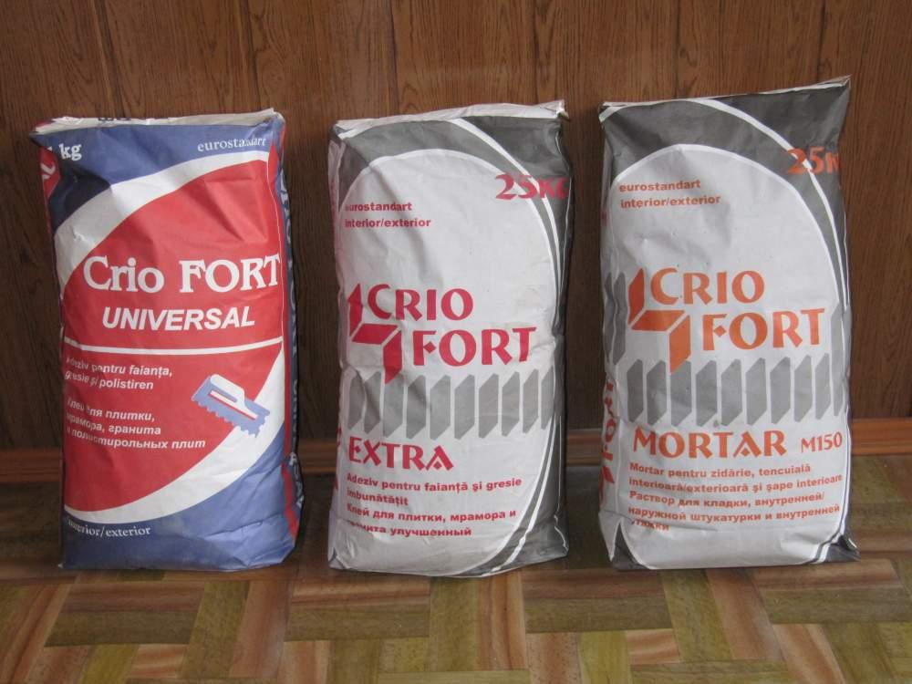 Купить Клей для керамической плитки и полистирольных плит CrioFort