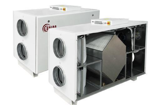 Вентиляционный агрегат с рекуперацией тепла Salda RIS H EKO