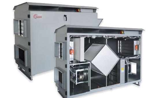 Вентиляционный агрегат с рекуперацией тепла Salda RIS H EC