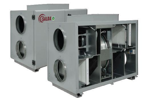 Вентиляционный агрегат с рекуперацией тепла Salda RIRS H EKO