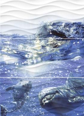 Купить Плитка настенная Wave Dolphins Панно 60x44 WA2T123D