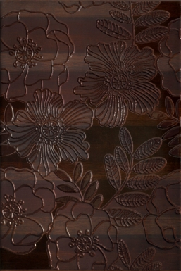 Плитка настенная Carisma Brown Inserto Flower 30x45 WD227-008