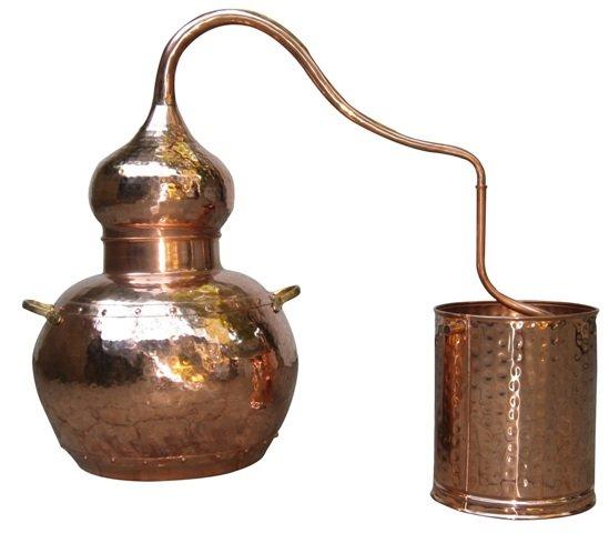 Купить Аламбик на 2 литра, без колонны, ручная ковка и клёпка