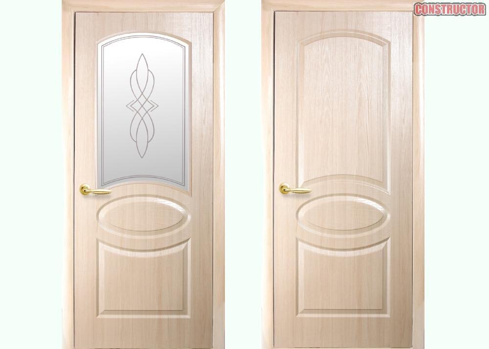 Купить Дверь из бруса Фортис R ясень