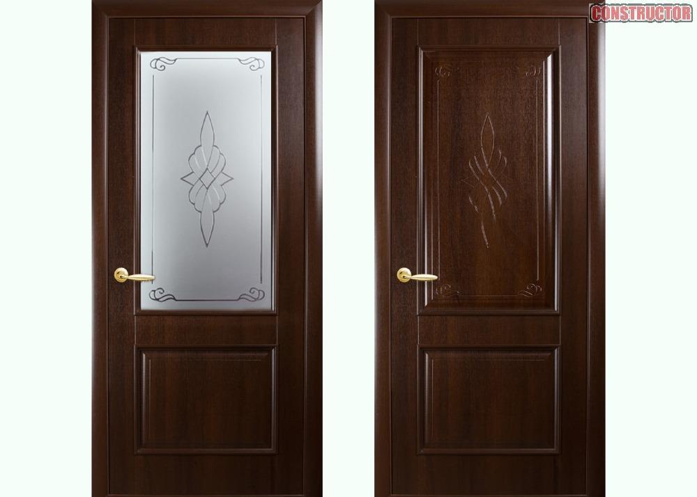 Купить Дверь из бруса Новый стиль Вилла каштан