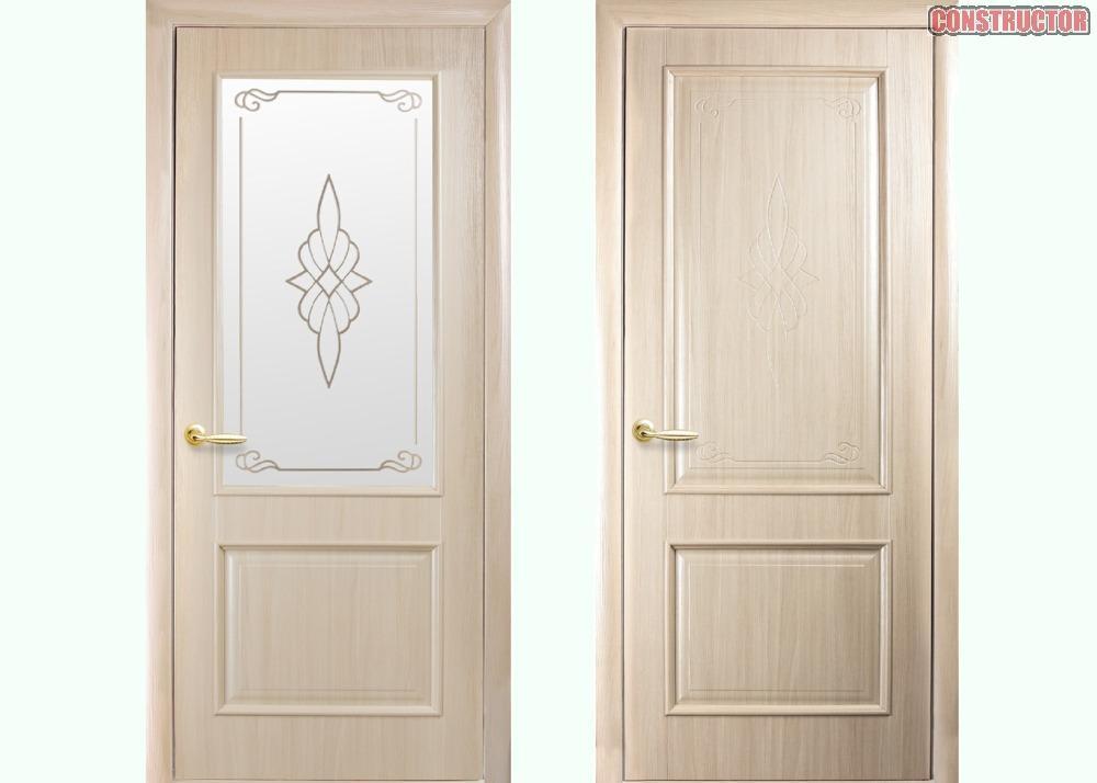 Купить Дверь из бруса Новый стиль Вилла ясень