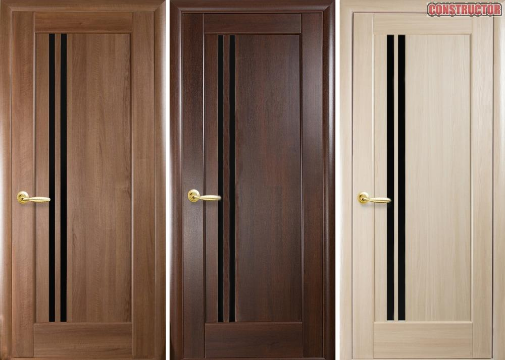 Купить Дверь из бруса Новый стиль Делла BLK ясень