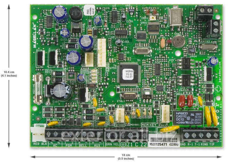 Купить Контрольная панель 32-х зонная с двухсторонней беспроводной связью Paradox MG5000