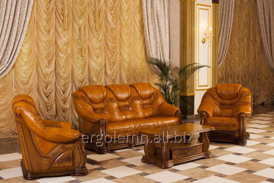 Кожаная мягкая мебель для гостиной или офиса Cardinal, Ерголемн
