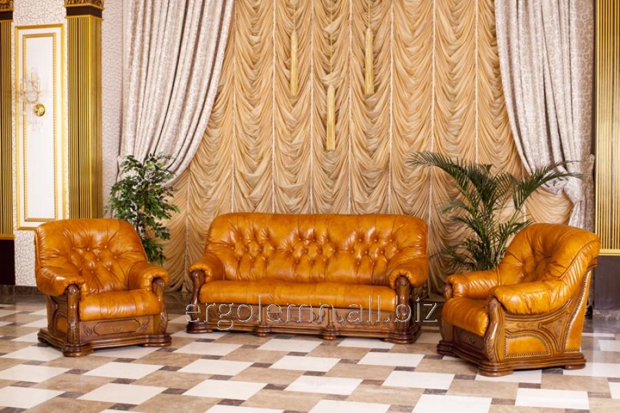 Кожаная мягкая мебель для гостиной или офиса Granada, Ерголемн