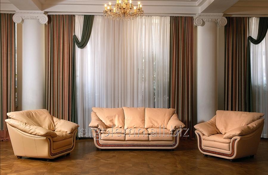 Кожаная мягкая мебель для гостиной или офиса Senator, Ерголемн