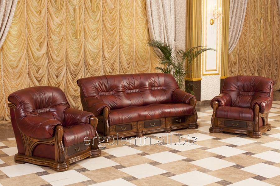 Кожаная мягкая мебель для гостиной или офиса Cristall, Ерголемн