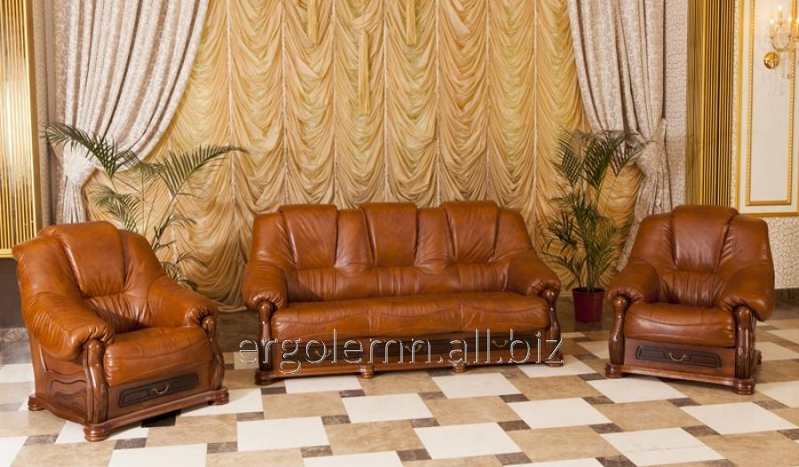 Кожаная мягкая мебель для гостиной или офиса Apollo Lux, Ерголемн