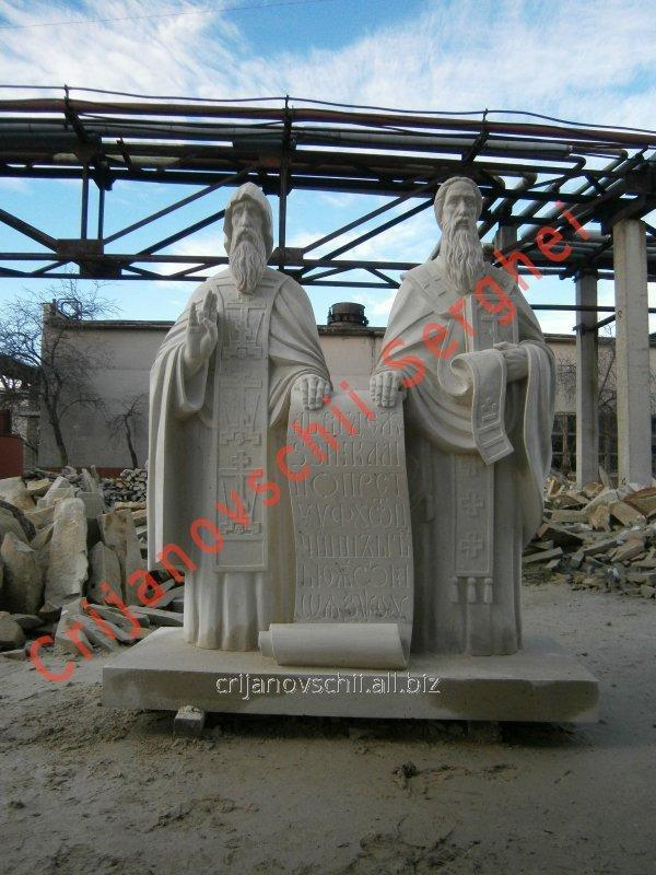 Sculpture Sv Kirill and Mefodiy Vysota - 2,20 m