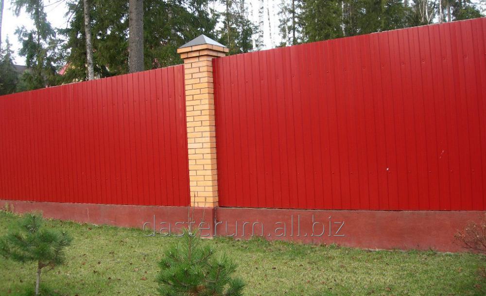 Купить Забор для дачи, забор из профнастила