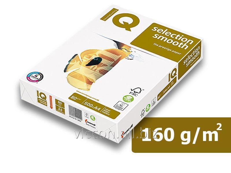 Купить Бумага IQ Selection,А4, 160 г/м2, белизна 167% CIE, 250 листов)