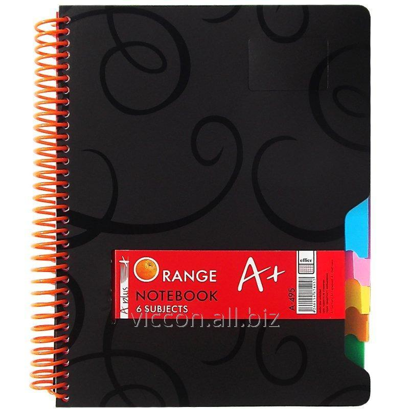 Buy A4 notebook with 6 dividers, 200 sheets, on a lateral spiral, A-495 cage