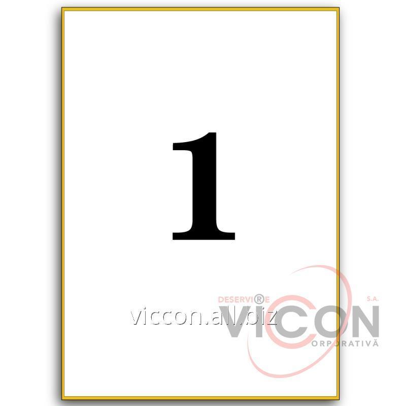 Купить Этикетки самоклеящиеся белые, 1 на листе. Размеры: 210 x 297 mm
