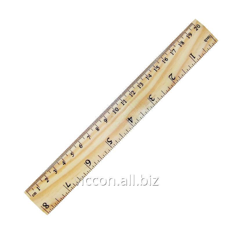 Купить Линейка деревянная, 20 см