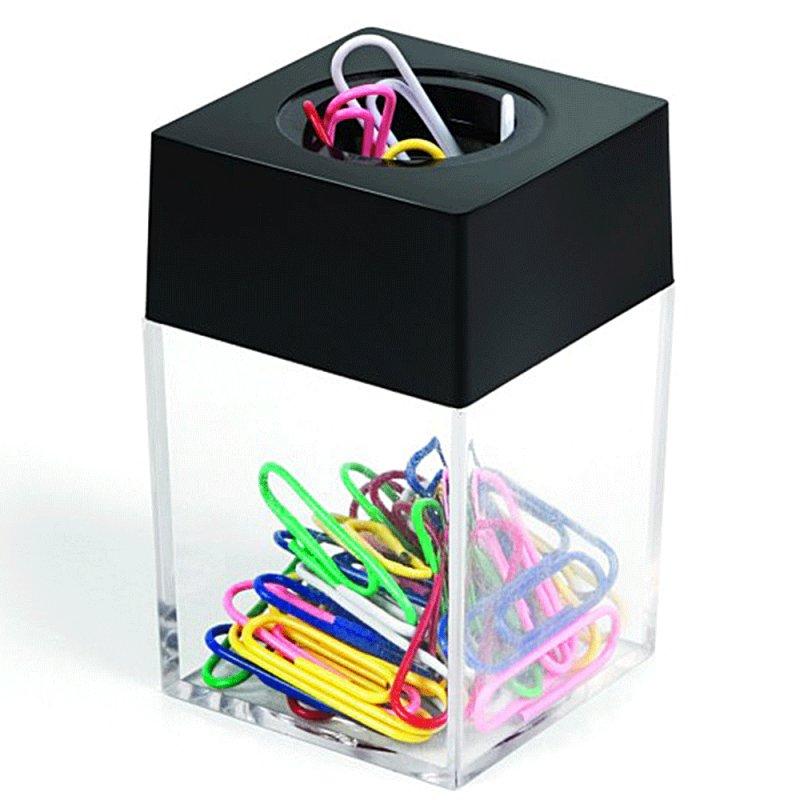 Купить Скрепочница магнитная c цветными скрепками