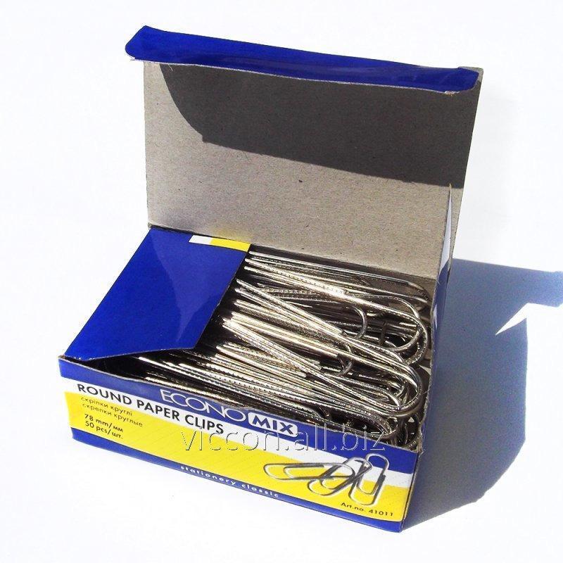 Купить Скрепки, 78 мм, гофрированные, ECONOMIX ( 50 шт.)