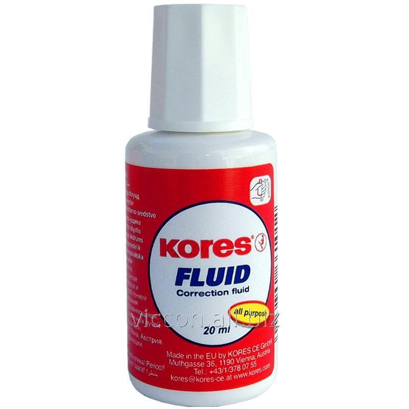 Купить Корректор на спиртовой основе, с кисточкой, KORES FLUID, 20 мл.