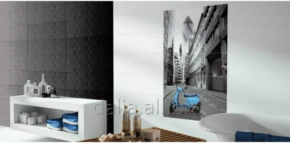 Buy Ceramic tile wall with the drawing Ceracasa Stonewood