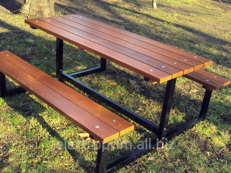 Купить Стол со скамейками Модель П27