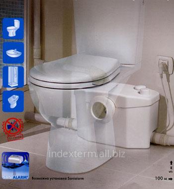 Насос-измельчитель SANIFLO- SANIPRO XR SILENCE для подключения унитаза, умывальника, дущевую и ванной