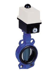 Арматура запорная DANFOSS VFY-WA заслонки затворы поворотные дисковые с резьбовыми проушинами и электрическим приводом, 230 В, Ду 25-300 мм., давление 10-16 бар