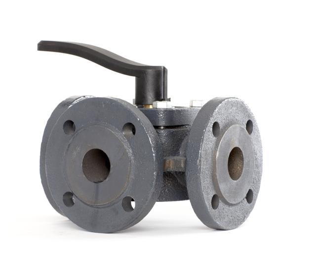 DANFOSS HFE3 Ру6 клапаны поворотные 3-ходовые фланцевые, Ду 20-150 мм.
