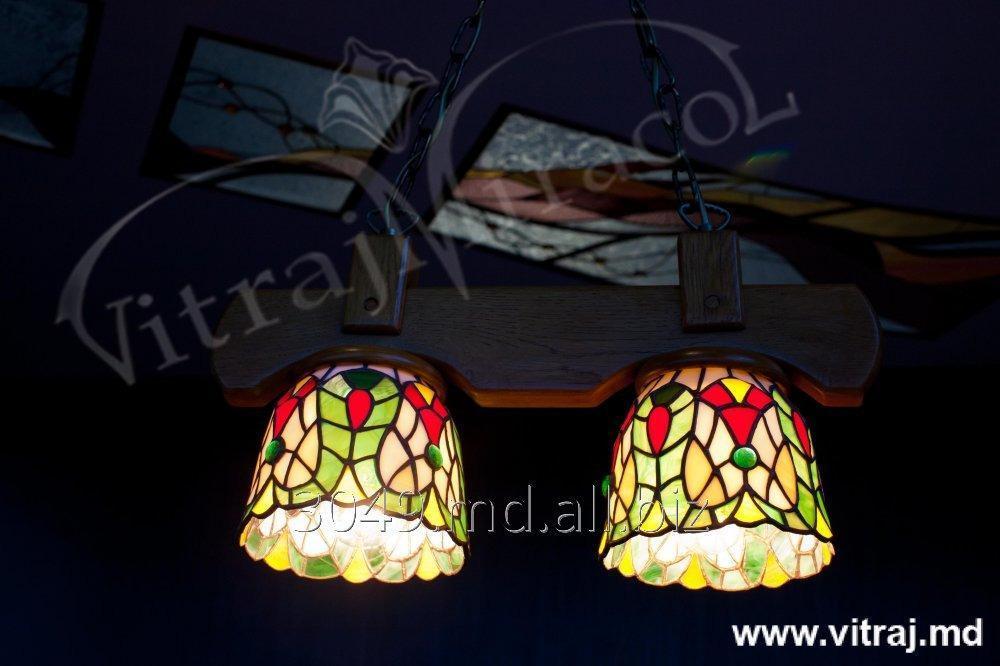 Купить Stained glass chandelier Tiffany