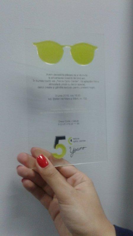 Печатная продукция Invitatie pe sticla organica