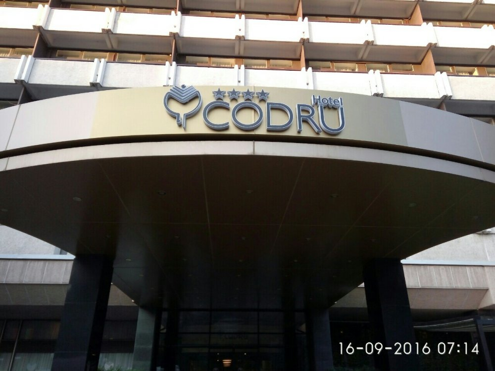 Печатная продукция Litere volumetrice Codru Hotel