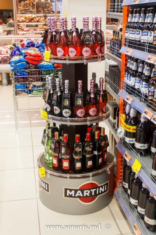 Печатная продукция POS stand rotund pentru Martini