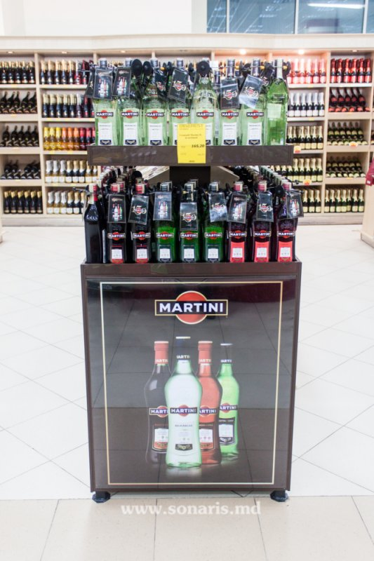 Печатная продукция POS stand pentru Martini