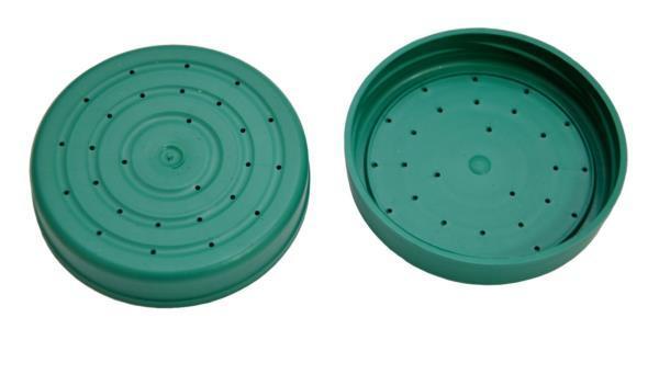 Купить Крышка пластмассовая с дырками для подкормки пчёл