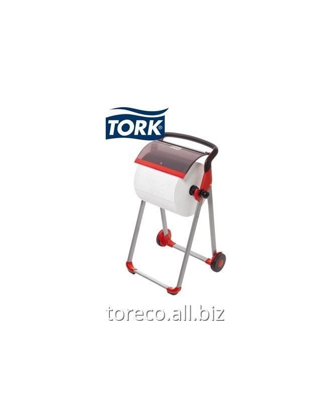 Купить Напольный диспенсер для материалов в рулоне Tork Performance, W1, 1006х646х530, Красный/черный Код: 652008