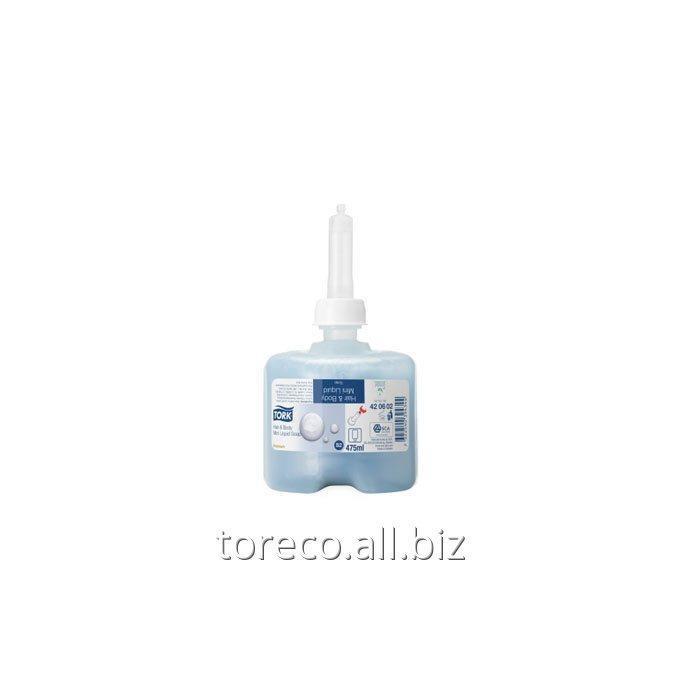 Купить Жидкое мыло-гель для тела и волос Tork S2, 475ml/8,Синий, Premium Код: 421602