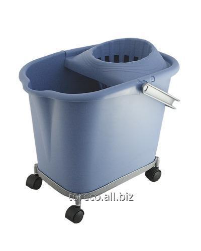 Купить Ведро с отжимной решеткой Kent 16л, Синяя, Ressol Код: 04980