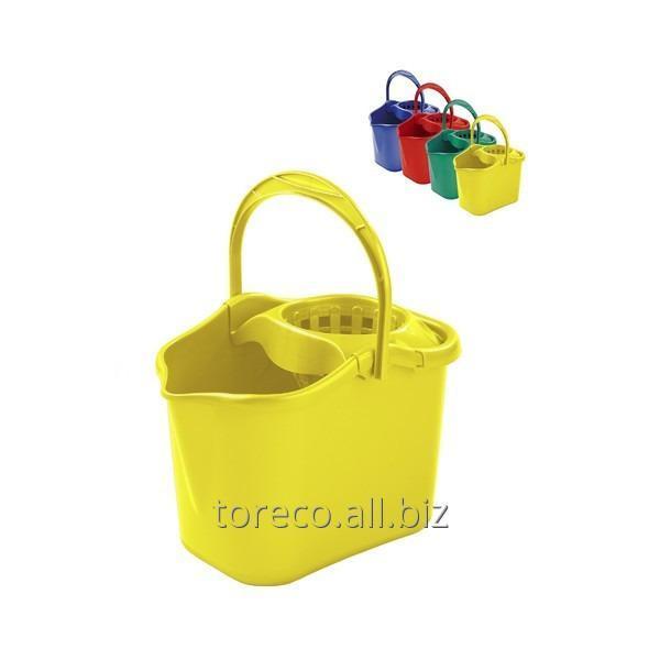 Купить Ведро с отжимом, Luxe, 13л, Yellow Код: 04508