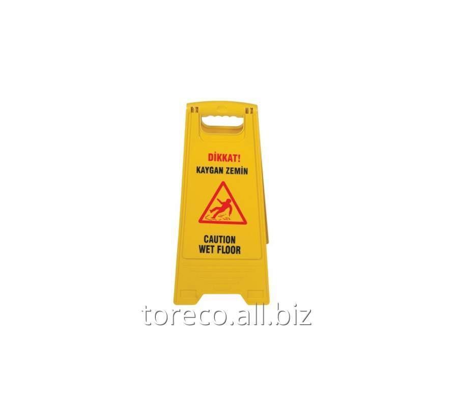 Купить Табличка Осторожно! Wet floor Код: KZL3201