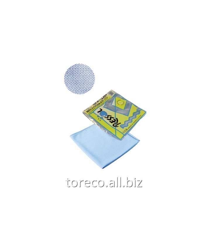 Купить Салфетка из микрофибры для стекла Microglass 38х40см, Синяя, Ressol Код: 00828