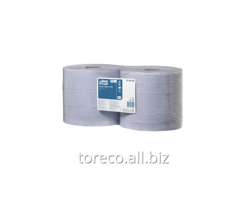Купить Протирочная бумага в рулоне 320, W1/W2, 2 слоя, 340м, 34х23.5, 1000/2, Голубая, Universal Код: 128406