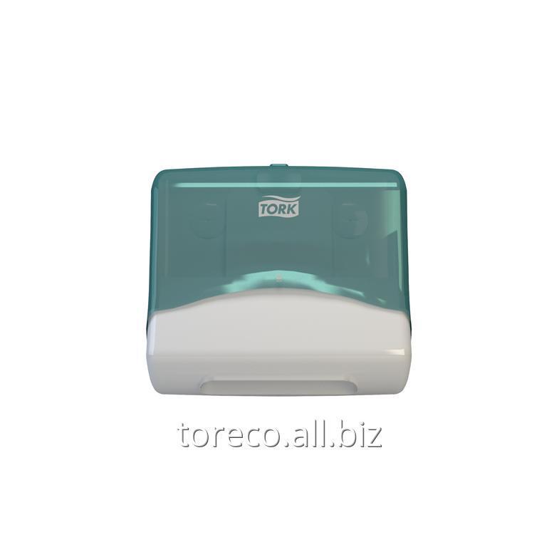 Купить Диспенсер для материалов в салфетках Tork Performance W4, 394х427х206, Белый/голубой Код: 654000