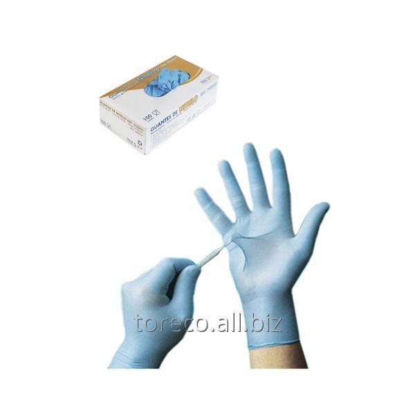 Купить Перчатки нитриловые, MEDIUM, 100шт./уп. Код: 03218
